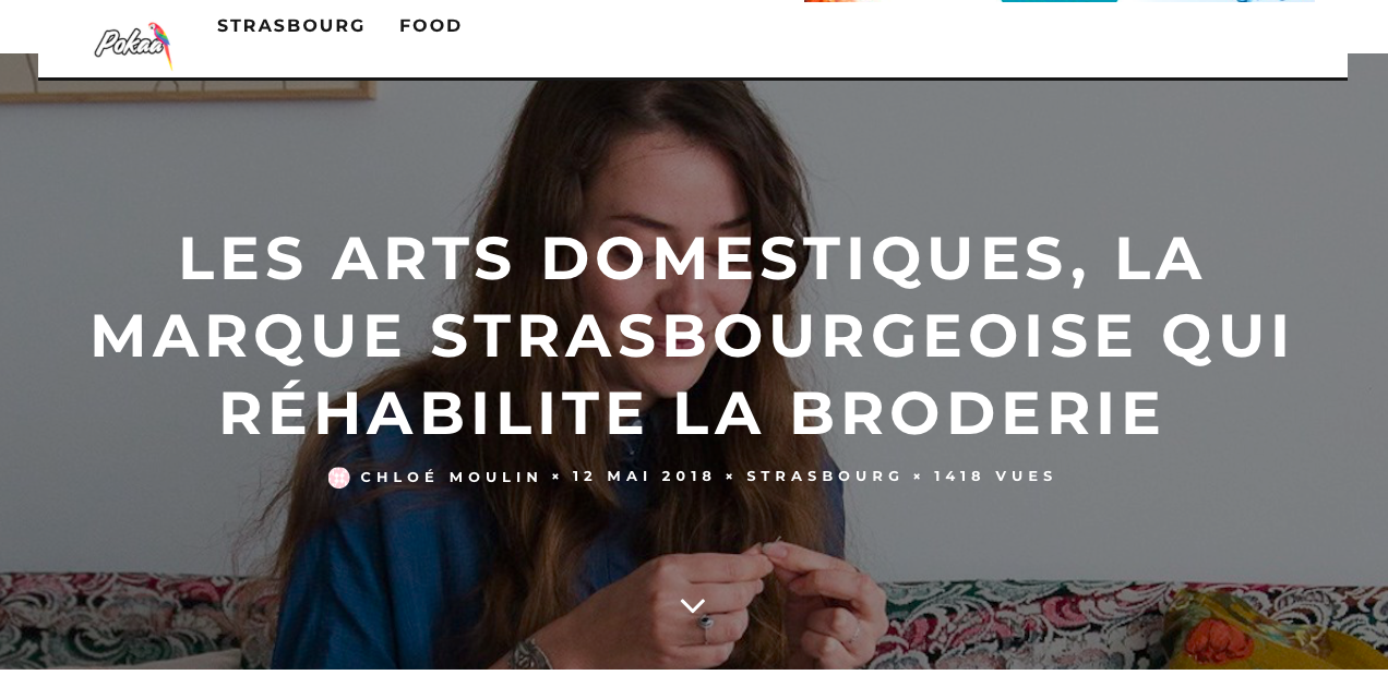 interview pokaa Les Arts Domestiques Broderie Strasbourg